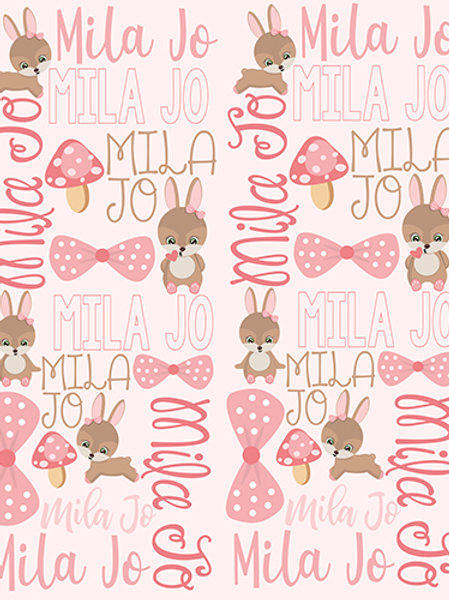 Personalized Rabbit Blanket