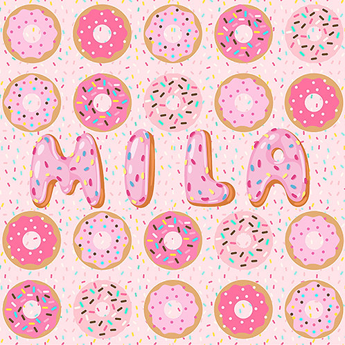 Personalized Donut Blanket