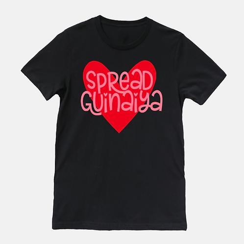 Unisex Guinaiya Tee + Pink Text