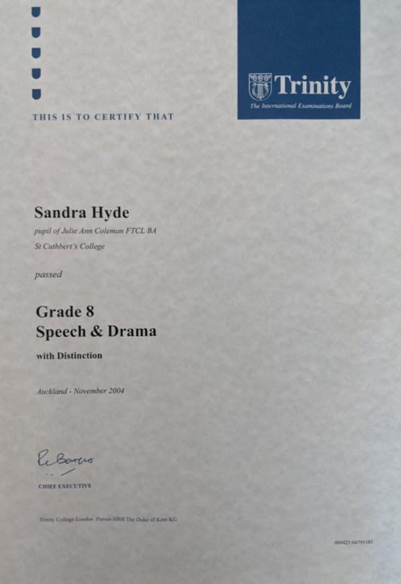 Speech & Drama with Distinction