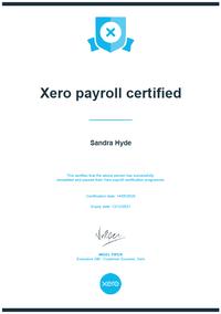 Xero Payroll Certified