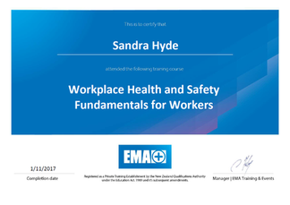 Workplace Health and Safety Fundamentals