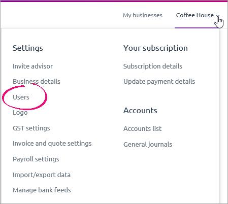Settings menu - users.png