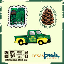 Texas Forestry Museum Stickers