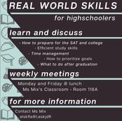 Adult Skills Poster