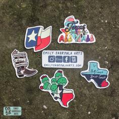 Texas Sticker Collection