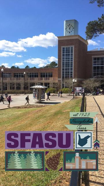 Active SFASU Snapchat Filter