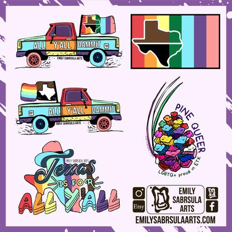 Texas Pride Stickers