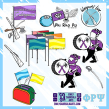 Phi Rho Psi Colorguard stickers