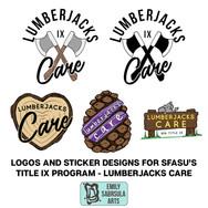 Lumberjacks Care Logo and Stickers