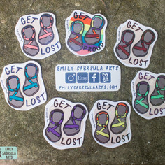 Get Lost Chacos Stickers
