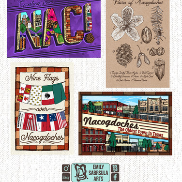 Nacogdoches Post Cards