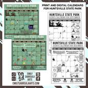 Huntsville State Park Calendars