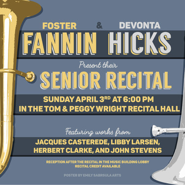 Senior Recital Poster