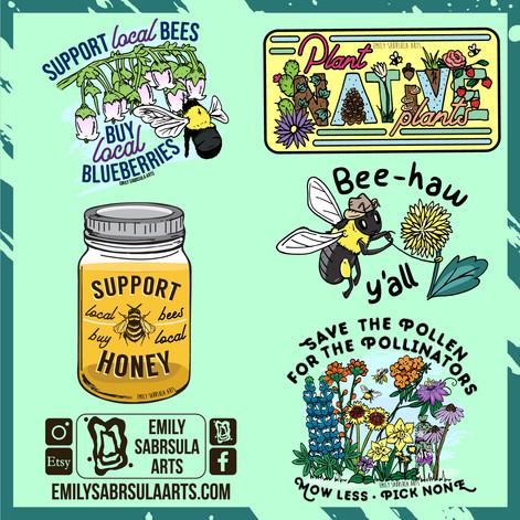 Pollinator Stickers