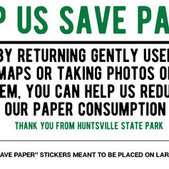 Save Paper Sticker