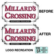 Vectorization of Millard's Crossing Logo