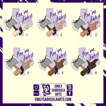 Axe 'Em Stickers
