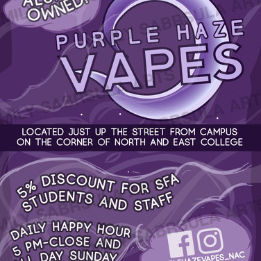 Purple Haze Vapes Poster