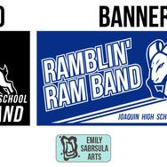 Joaquin High School Ram Band Branding