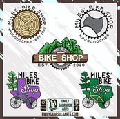 Miles' Bike Shop Logos