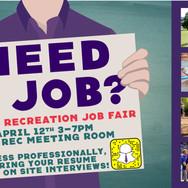 Campus Rec Job Fair Poster