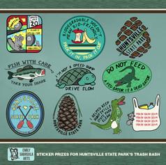 Trash Bash Sticker Prizes