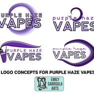 Purple Haze Vape Logo Concepts
