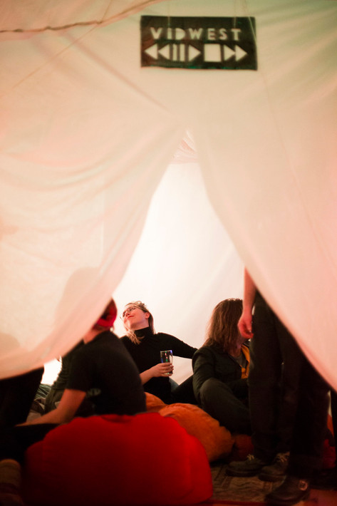 Music Video Viewing Tent