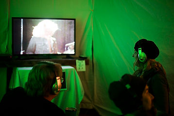 VidWest Fest Video Viewing Tent