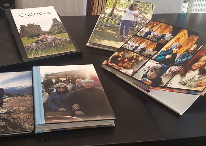 Algunos ejemplos de álbumes Hofmann que elaboro a partir de tus fotos improvisadas con el móvil