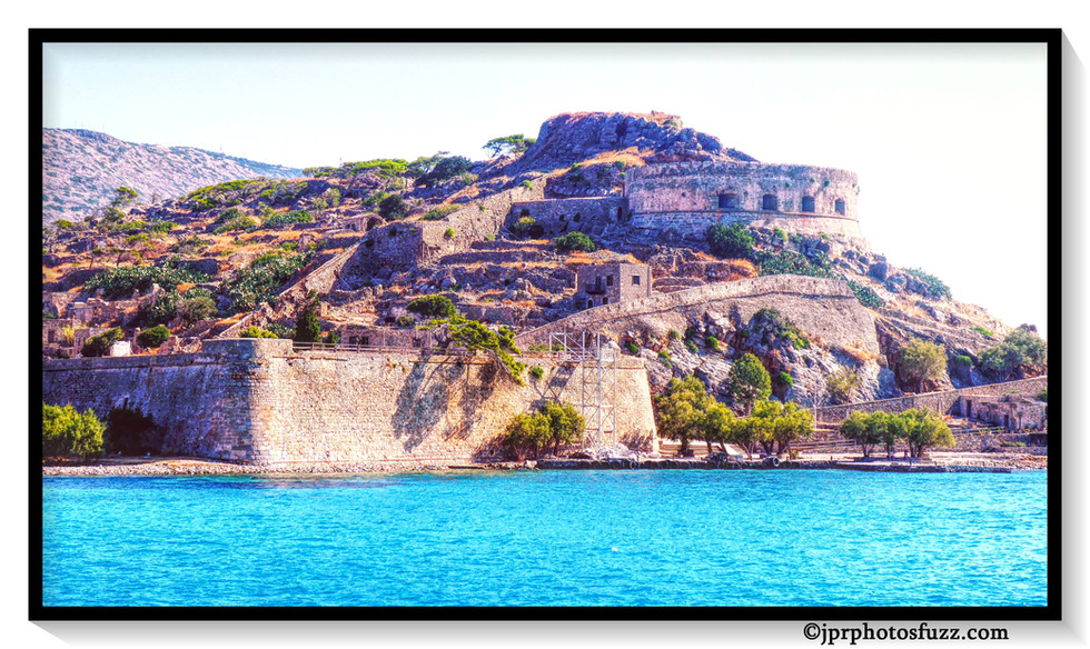Fort Spinalonga 2 Aff EncadrWM