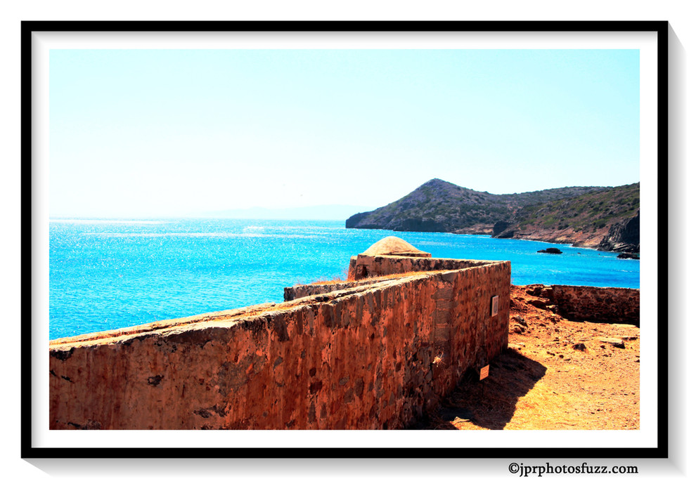 Fort Spinalonga Aff EncadrWM