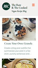 See All Templates website templates – Vegan Recipe Blog