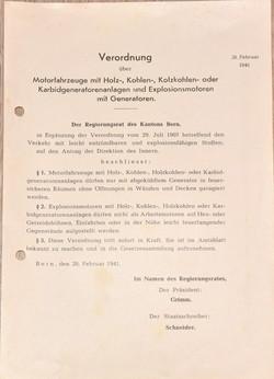 1941 Verordnung Motoren