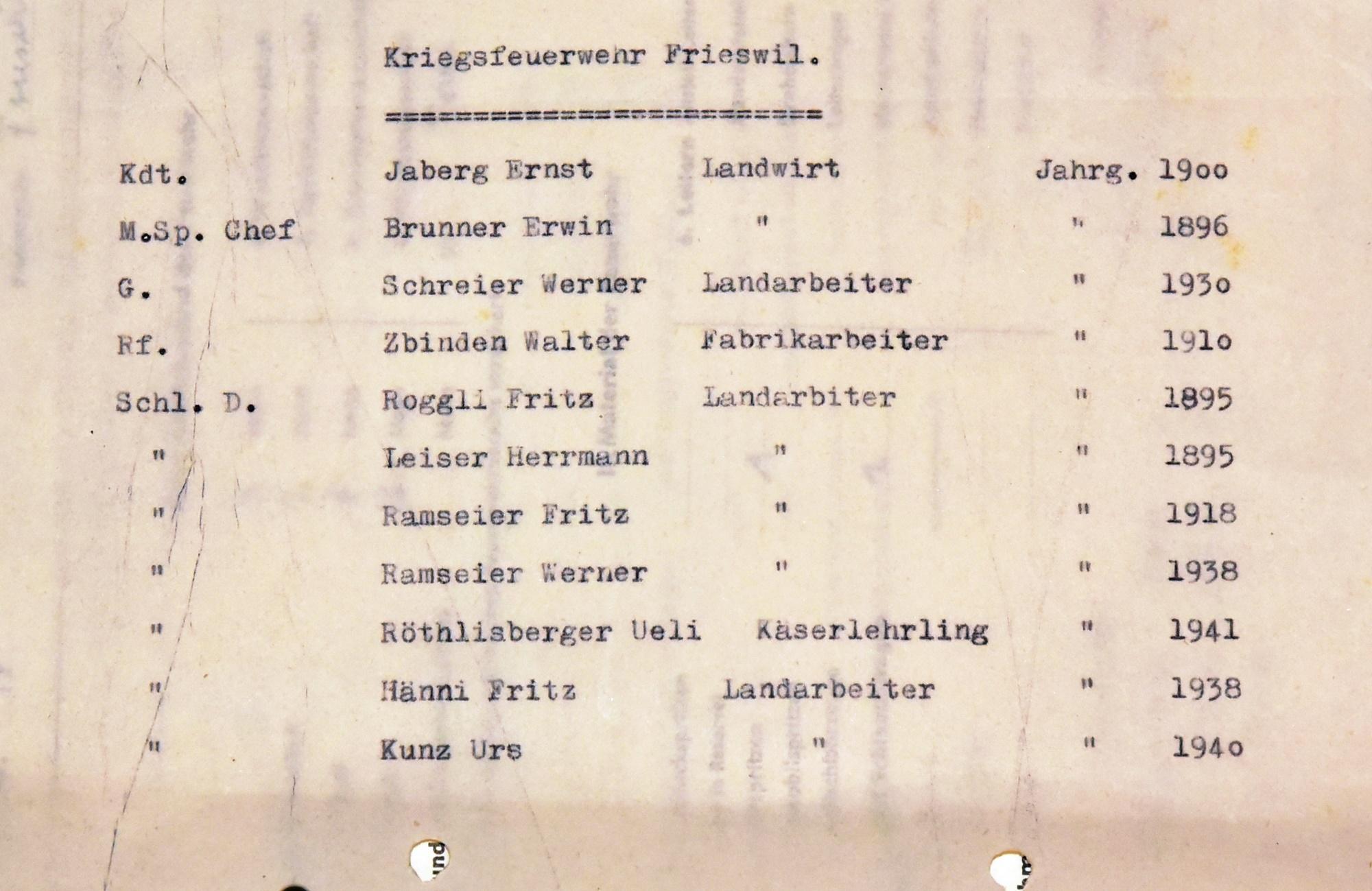 1950 Kriegsfeuerwehr