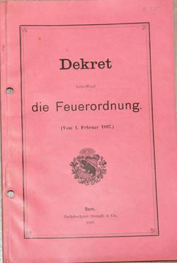 1897 Feuerordnung
