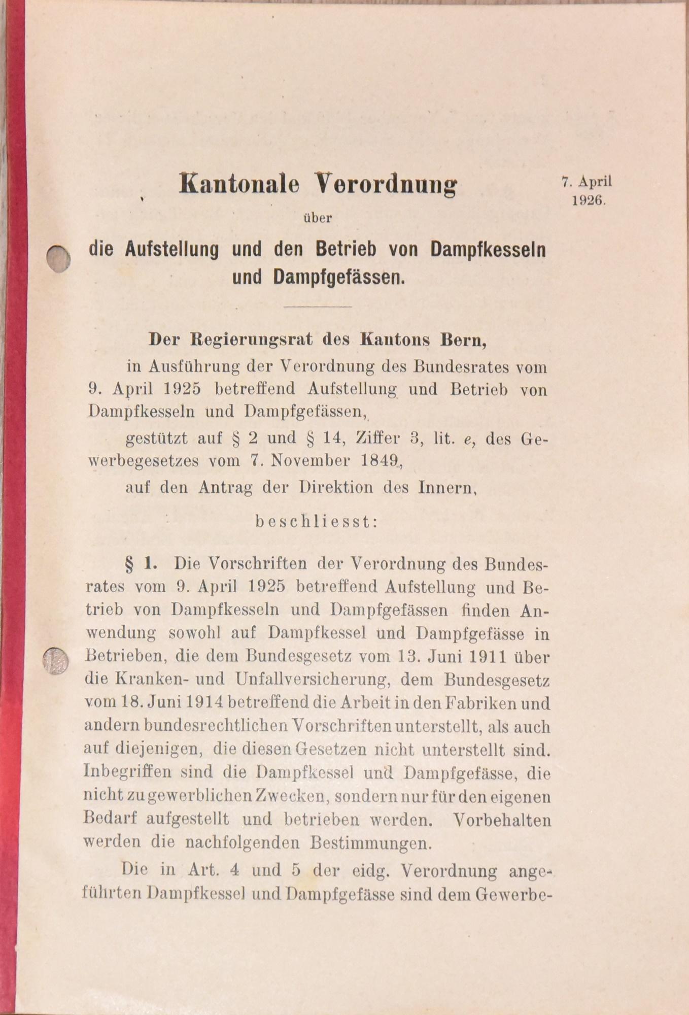 1926 Dampfkessel