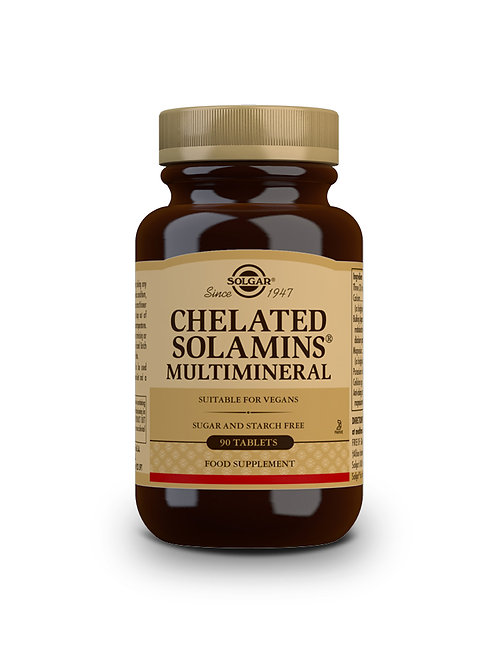 Chelated Solamins Multimineral 90 Tablets