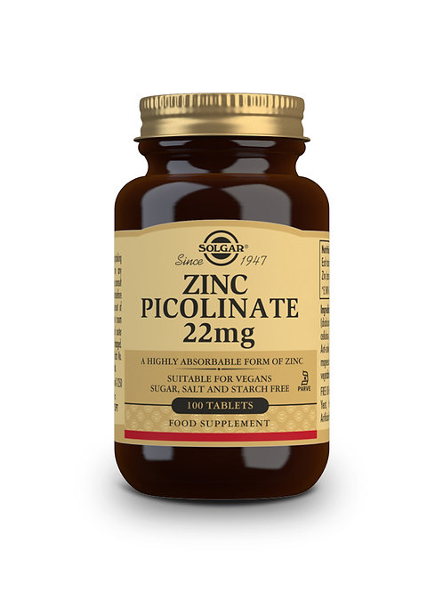 Zinc Picolinate 22 mg 100 Tablets