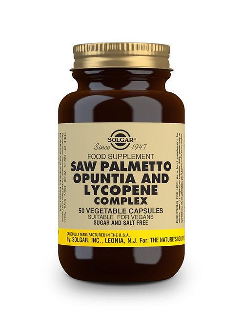 Saw Palmetto Opuntia & Lycopene Complex 50 Vegicaps
