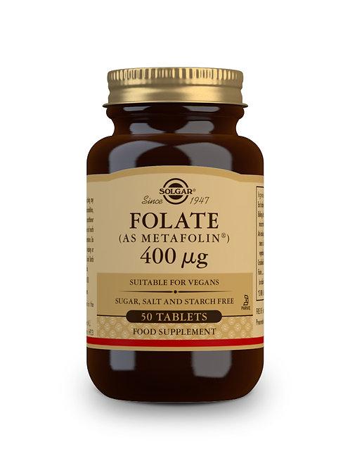 Folate (As MetaFolin) 400 ug 50 Tablets