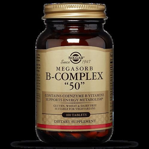 """Megasorb B-Complex """"50"""" 50 Tablets"""