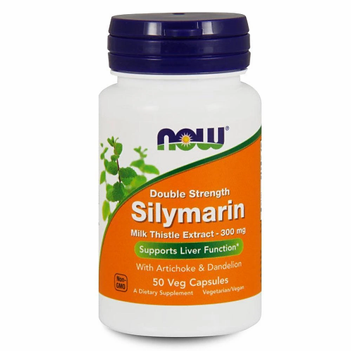 Now Double strength Silymarin 50 capsules