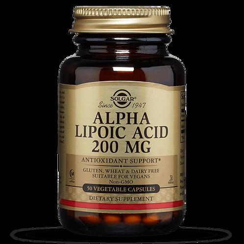 Alpha lipoic acid 200 mg 50 Vegetable Capsules