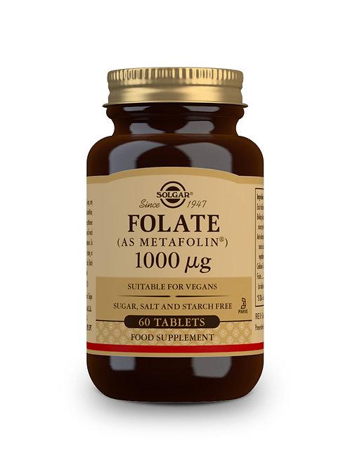 Folate (As MetaFolin) 1000 ug 60 Tablets