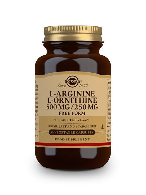 L-Arginine L-Ornithine 500 mg/ 250 mg 50 Vegicaps