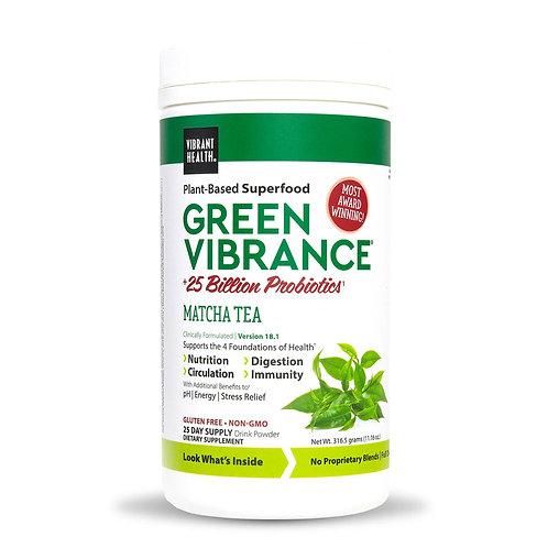 Green Vibrance Vanilla Flavour Matcha Tea- 25 Day Supply
