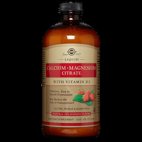 Calcium Magnesium Citrate + D3 473 ml Liquid Strawberry