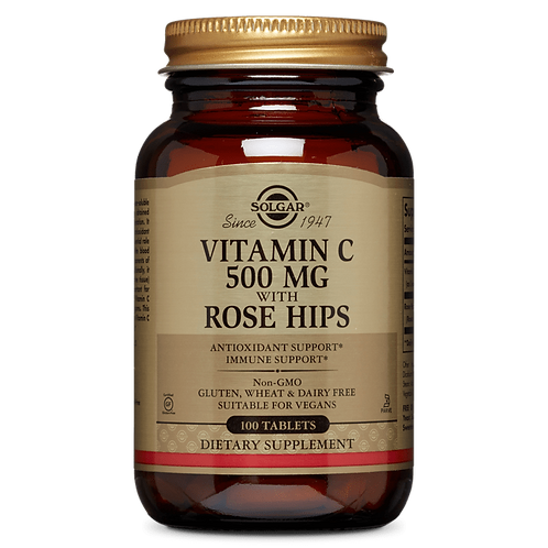 Vitamin C 500 mg With Rose Hips 100 Tablets